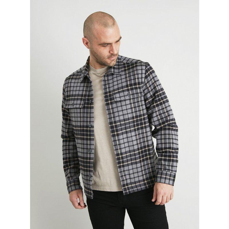 Grey Check Overshirt from Argos