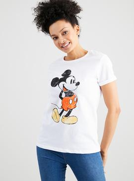 Disney Mickey Mouse White T-Shirt