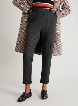 Charcoal Pinstripe Tapered Trouser