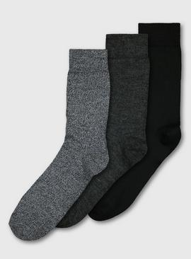 Grey Outdoor Socks With Wool 3 Pack