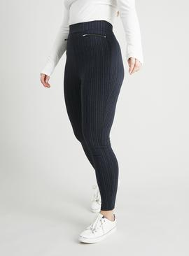 Pinstripe Stretchy Trousers
