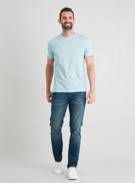 Blue Crew Neck T-Shirt