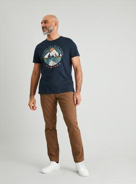 Navy Mountain Graphic T-Shirt