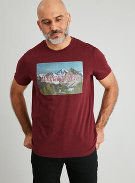 Oxblood Photographic Mountain T-Shirt