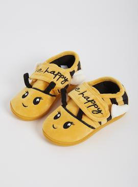 Yellow Bee Slippers