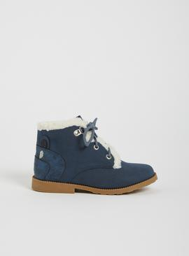 Blue Bear Lace Up Boots