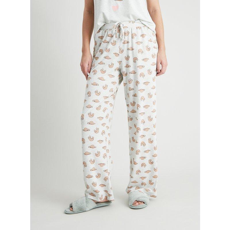 Sloth Print Pyjama Bottoms from Argos