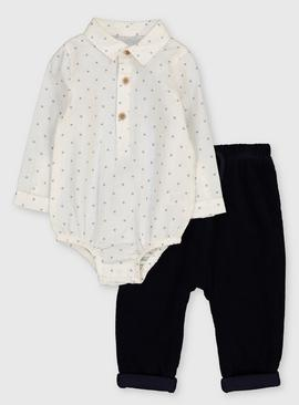 Star Bodysuit & Cord Trousers