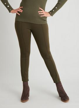 Khaki Ponte Leggings