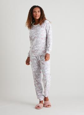 Christmas Polar Bear Slinky Fleece Pyjamas