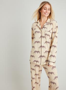 Leopard Print Traditional Pyjamas