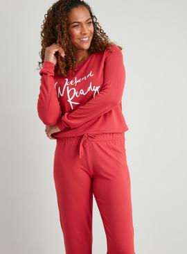 Pink 'Weekend Ready' Soft Knit Pyjamas