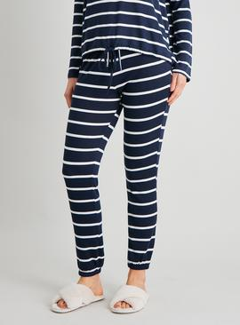 Navy Stripe Soft Knit Pyjama Bottoms