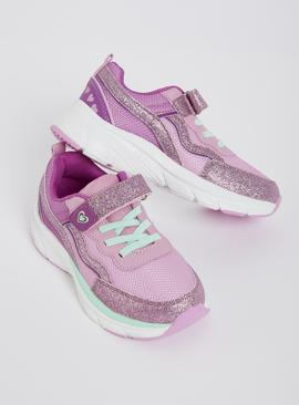 Pink Sparkle Chunky Trainers