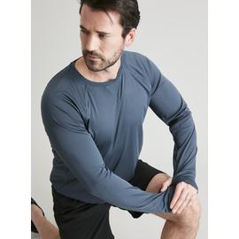 Active Blue Moisture Wicking Long Sleeved Top