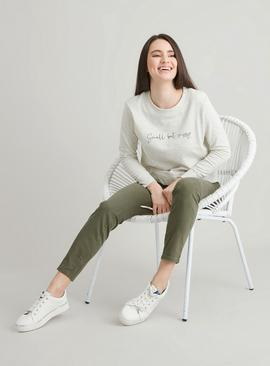 PETITE Oatmeal 'Small But Sassy' Sweatshirt