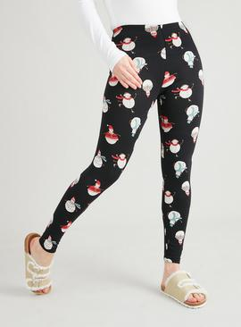 PETITE Christmas Novelty Snowman Leggings 2 Pack