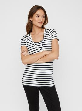 Stripe & Navy Maternity Top 2 Pack