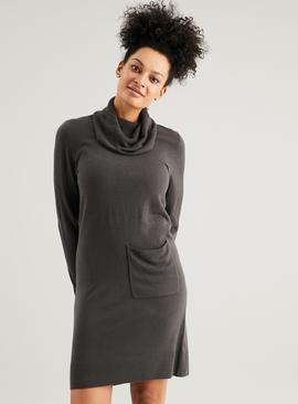 Dark Grey Soft Touch Pocket Dress