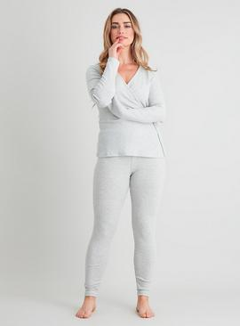 Active Grey Ribbed Yoga Leggings