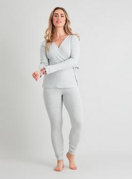 Active Grey Ribbed Yoga Top