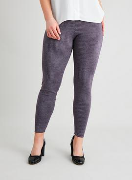 Purple Dogtooth Leggings