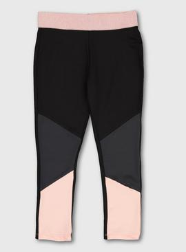 Pink Panel Dance Leggings