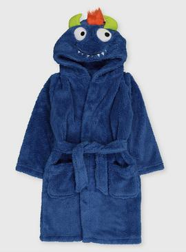 Blue Monster Dressing Gown