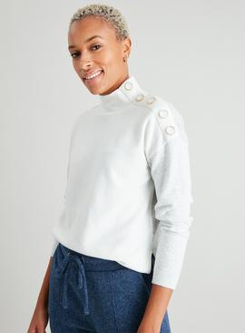 Colourblock Button Shoulder Jumper
