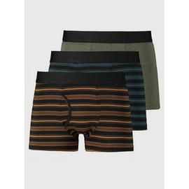 Striped & Plain Trunks 3 Pack