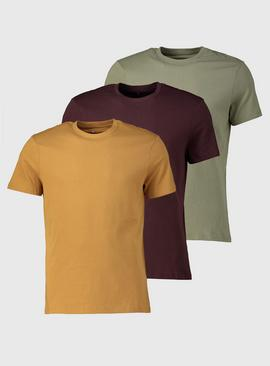 Muted Tone Crew Neck T-Shirts 3 Pack