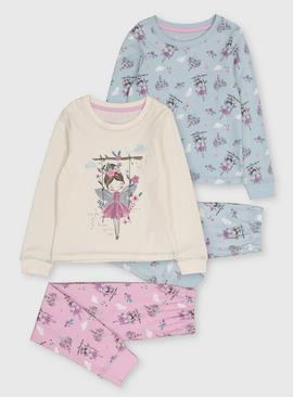 Blue & Purple Fairy Pyjama 2 Pack