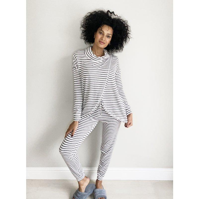 Grey Striped Pyjama Joggers from Argos