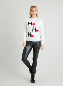 Christmas Cream 'Ho Ho Ho' Jumper