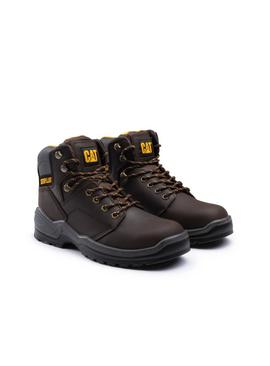 CATERPILLAR Brown Striver Lace Up Injected Safety Boot