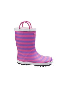 Captain Pink Stripe Wellies