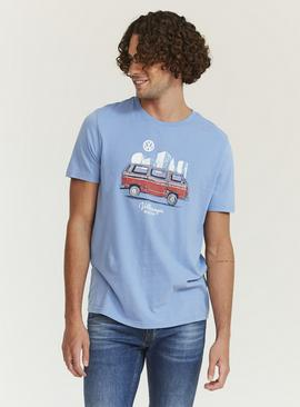 FATFACE Blue VW City Graphic T-Shirt
