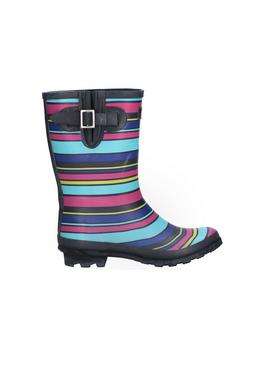 Stripe Paxford Mid Calf Wellington Boot