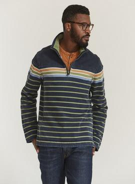 FATFACE Navy Airlie Breton Sweat Top