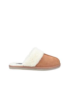 Tan Arianna Mule Slippers