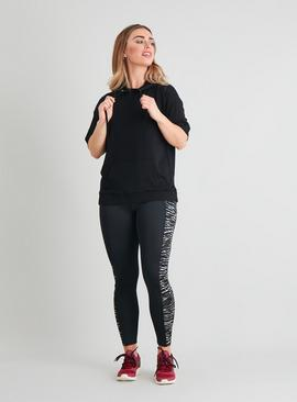 Active Black Zebra Side Panel Leggings