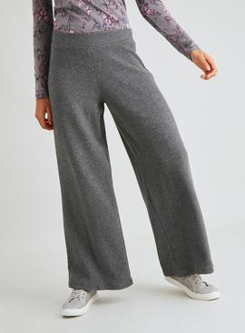 Grey Ribbed Coord Culottes