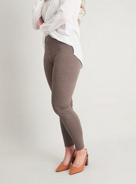 Brown Dogstooth Leggings