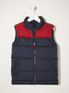 FATFACE Navy Colour Block Gilet