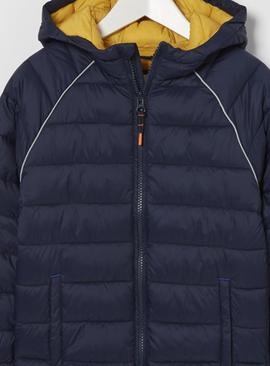 FATFACE Navy Packaway Padded Jacket