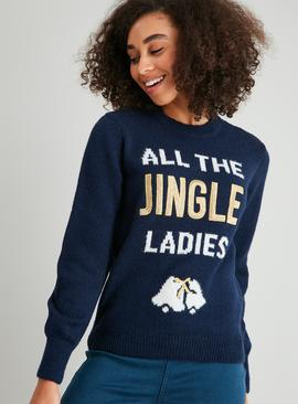 Christmas Navy Jingle Jumper
