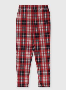 Red Check Leggings