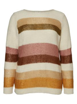 Stripy Knitted Jumper With Wool