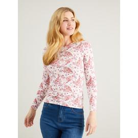 Paisley Print Long Sleeved Luxe Top