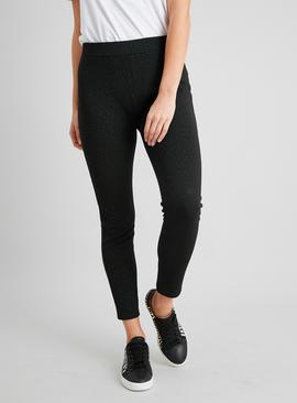 Black Sparkle Spotted Leggings